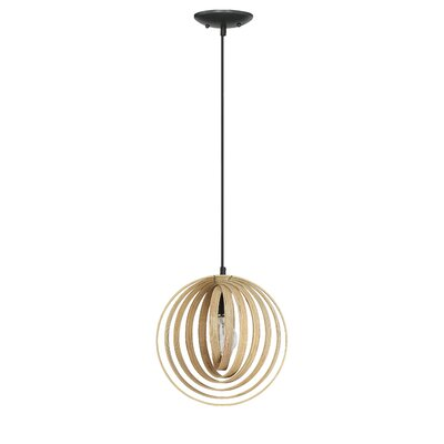 Ussery 1-Light Pendant Size: 146.25 H x 25 W