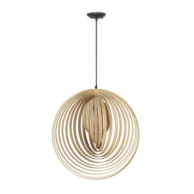 Ussery 1-Light Pendant Size: 143.25 H x 22 W