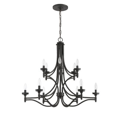 Beauchamp 12-Light Candle-Style Chandelier Finish: Aged Bronze Brushed