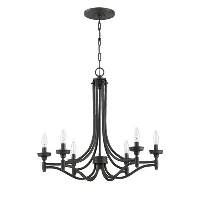 Sophia 6-Light Candle-Style Chandelier Finish: Aged Bronze Brushed