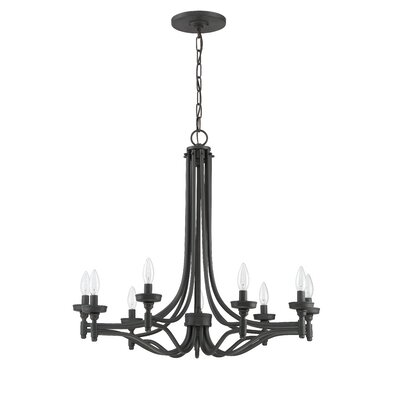Beauchamp 9-Light Candle-Style Chandelier Finish: Aged Bronze Brushed