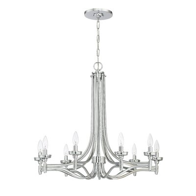 Sophia 9-Light Candle-Style Chandelier Finish: Chrome