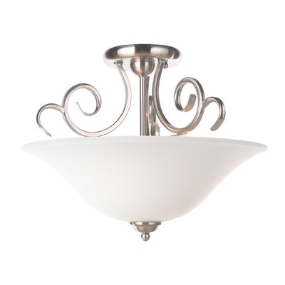Hollingshead 3-Light Semi-Flush Mount