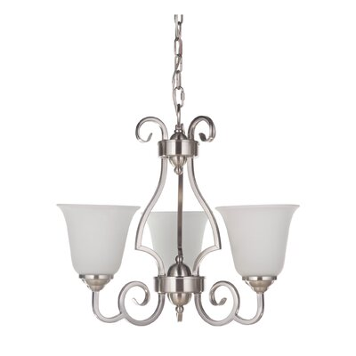 Hollingshead 3-Light Bell Shaded Chandelier