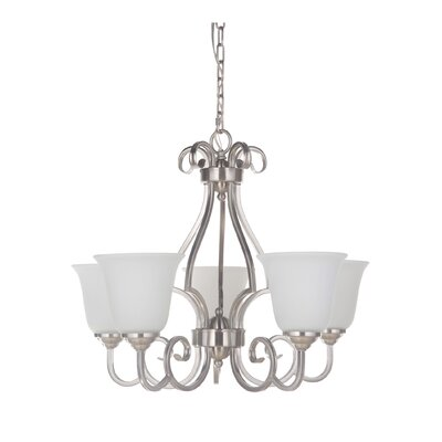 Hollingshead 5-Light Bell Shaded Chandelier