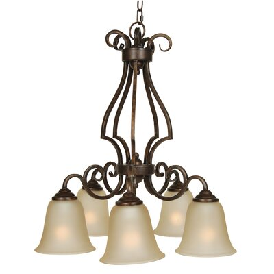 Centreville Chandelier Finish: Peruvian Bronze with Amber Glass
