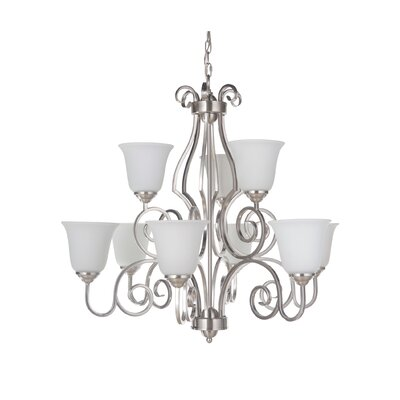 Hollingshead 9-Light Shaded Chandelier
