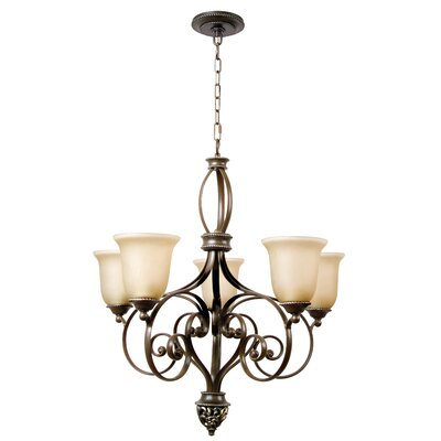 Jennings 5-Light Shaded Chandelier
