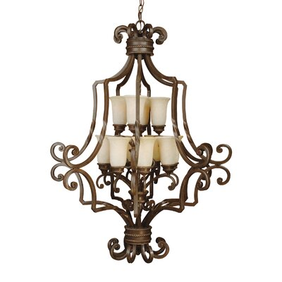 Kellie Traditional 12-Light Foyer Pendant