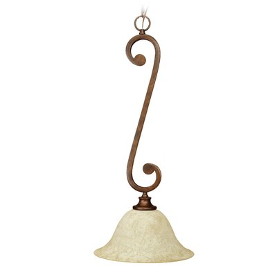 Toscana 1-Light Mini Pendant Size: 12