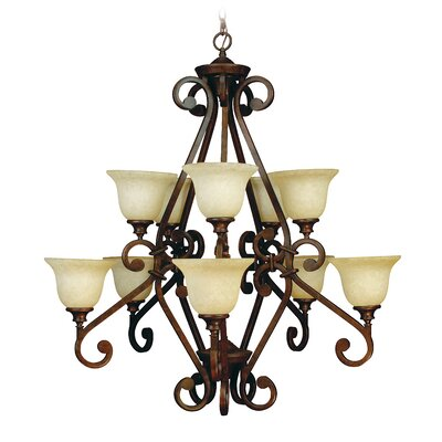 Toscana 10-Light Shaded Chandelier