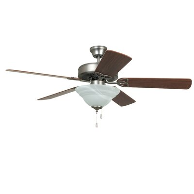 52 Gouge 2-Light 5-Blade Ceiling Fan Finish: Antique Nickel with Ash/Mahogany Blades