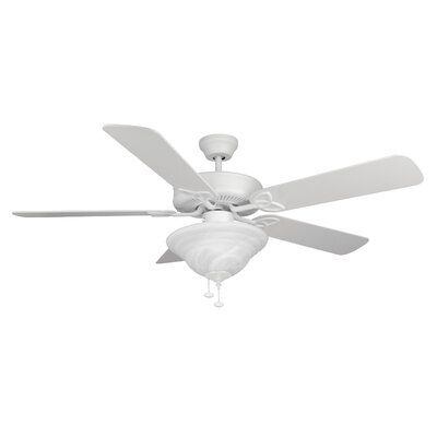 52 Gouge 2-Light 5-Blade Ceiling Fan Finish: Matte White with Matte White Blades
