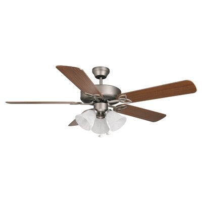 52 Gouge 5-Blade Ceiling Fan Finish: Antique Nickel with Ash/Mahogany Blades