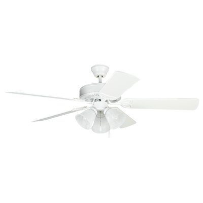 52 Gouge 5-Blade Ceiling Fan Finish: Matte White with Matte White Blades