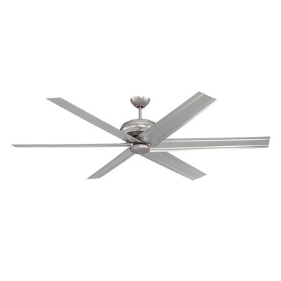 72 Habandi 6-Blade Ceiling Fan with Wall Remote Finish: Brushed Pewter with Brushed Pewter Blades