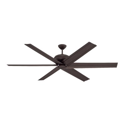 72 Habandi 6-Blade Ceiling Fan with Wall Remote Finish: Espresso with Espresso Blades