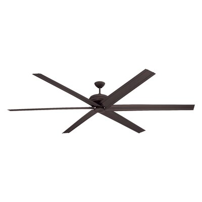 96 Habandi 6-Blade Ceiling Fan with Wall Remote Finish: Espresso with Espresso Blades