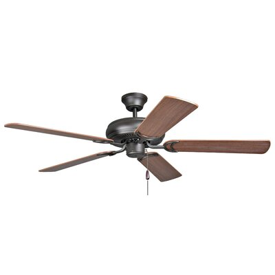 52 Godbey 5-Blade Ceiling Fan Finish: French Bronze with Dark Oak/Mahogany Blades