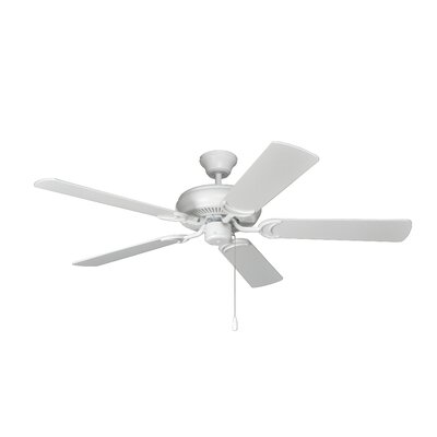 52 Godbey 5-Blade Ceiling Fan Finish: Matte White with Matte White Blades