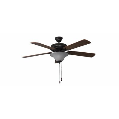 52 Godbey 3-Light 5-Blade Ceiling Fan Finish: French Bronze with Dark Oak/Mahogany Blades