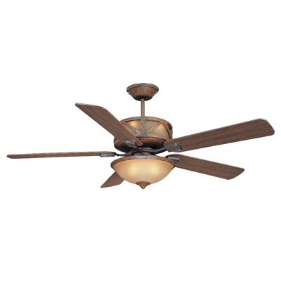60 Deer Lodge 5-Blade Ceiling Fan with Wall Remote
