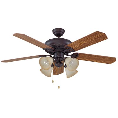 52 Jaynes 5-Blade Traditional Ceiling Fan Motor Finish: Aged Bronze
