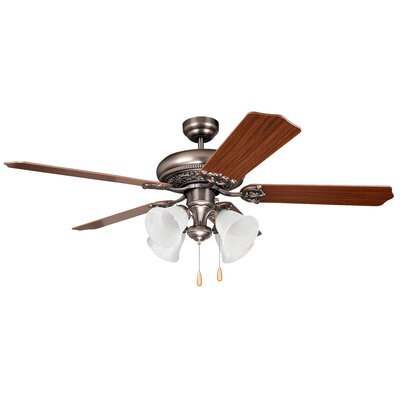 52 Jaynes 5-Blade Traditional Ceiling Fan Motor Finish: Antique Nickel