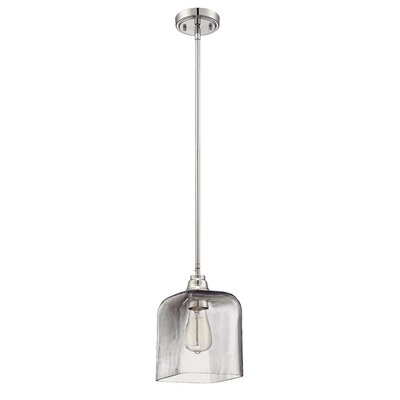 Stroud 1-Light Mini Pendant Shade Color: Smoked Clear
