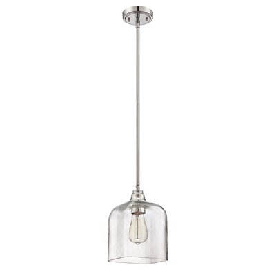 Stroud 1-Light Mini Pendant Shade Color: Clear
