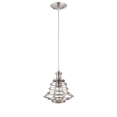 Newbrook 1-Light Mini Pendant Finish: Brushed Nickel