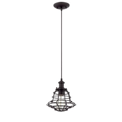 Newbrook 1-Light Mini Pendant Finish: Matte Black