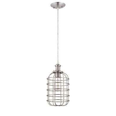 Wynnbrook 1-Light Mini Pendant Finish: Brushed Nickel