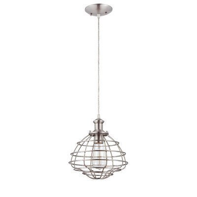 Brayton 1-Light Mini Pendant Color: Brushed Nickel