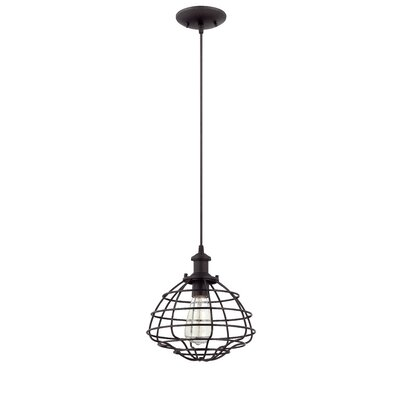 Brayton 1-Light Mini Pendant Finish: Matte Black