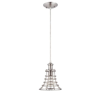 Valcour 1-Light Mini Pendant Finish: Brushed Nickel