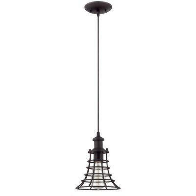 Valcour 1-Light Mini Pendant Color: Matte Black