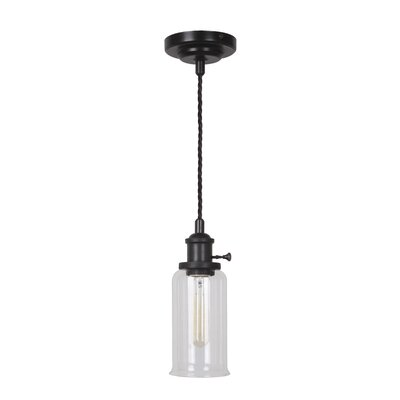 Pickwick 1-Light Mini Pendant Color: Aged Bronze Brushed