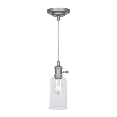 Pickwick 1-Light Mini Pendant Color: Aged Galvantized