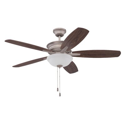 52 Elizabethville 5-Blade Ceiling Fan Finish: Athenian Obol with Dark Walnut/Walnut Blades