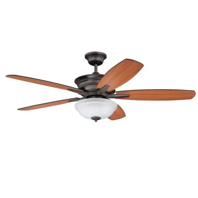 52 Elizabethville 5-Blade Ceiling Fan Finish: Espresso with Cherry/Walnut Blades