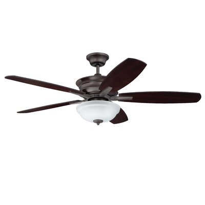 52 Elizabethville 5-Blade Ceiling Fan Finish: Oiled Bronze Gilded with Teak/Walnut Blades