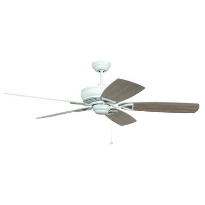 56 Wolfgram 5-Blade Ceiling Fan Color: White with Matte White/White Washed Blades