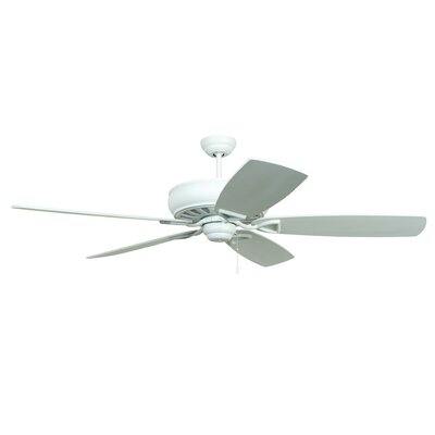 62 Wolfgram Antik 5-Blade Ceiling Fan Color: White with Matte White/White Washed Blades