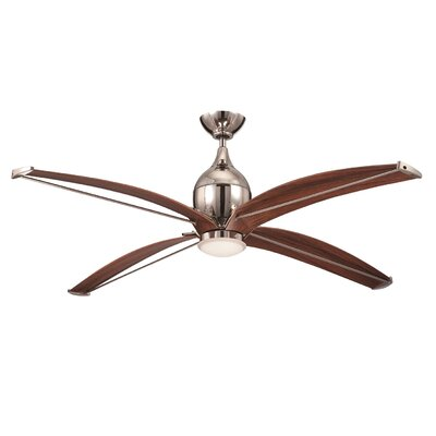 60 Ancey 4-Blade Ceiling Fan with Wall Remote