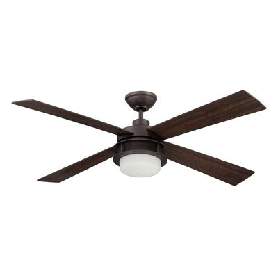 52 Urban Breeze 4-Blade Ceiling Fan with Wall Remote Finish: Espresso with Espresso/Classic Walnut Blades