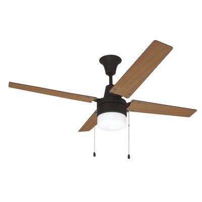 48 Wakefield 4-Blade Ceiling Fan Finish: Aged Brushed Bronze with Maple/Mahogany Blades