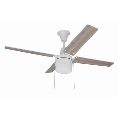48 Kamthe 4-Blade Ceiling Fan Finish: White with White/Whitewash Blades