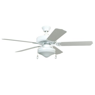 52 Southerland 5-Blade Ceiling Fan with Light Kit Finish: White with White ABS Blades