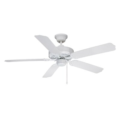 52 Southerland 5-Blade Ceiling Fan Finish: White with White ABS Blades